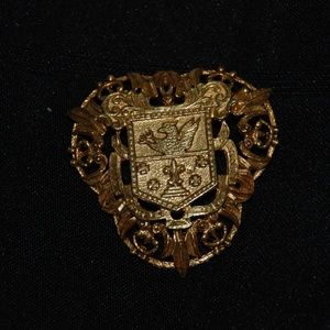 Florenza Gold Tone Shield Pin